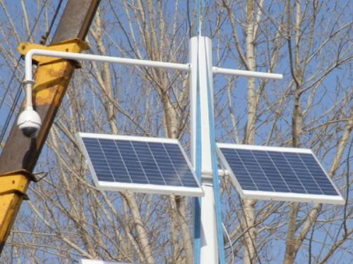 太阳能监控系统的使用,解决野外监控供电问题