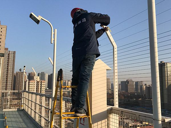 陕西鑫安安防学校安装电子围栏
